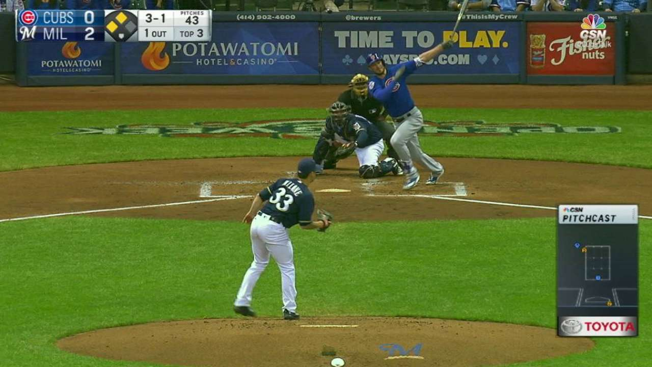 Bryant's two-run double