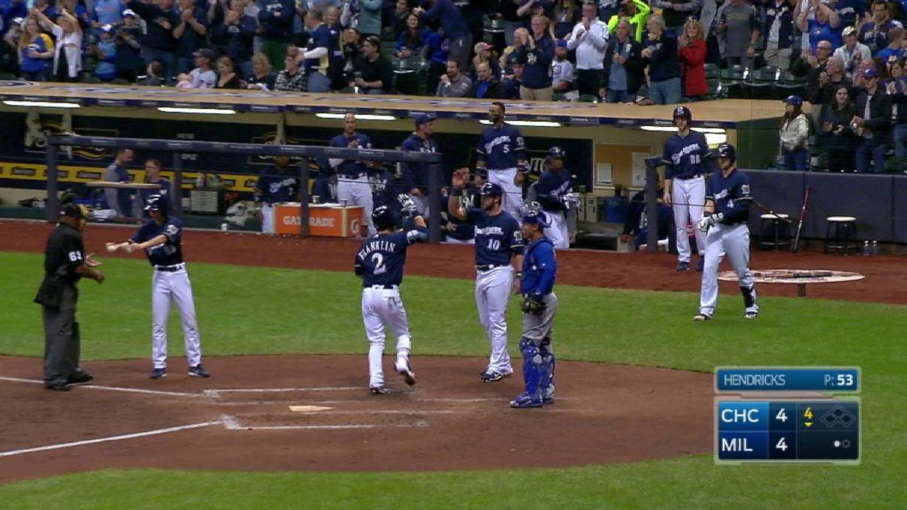 Franklin's two-run home run