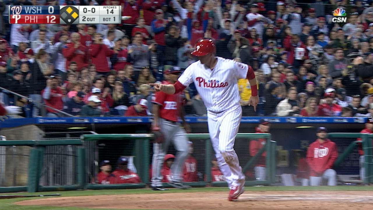 Phils score club-record 12 1st-inning runs