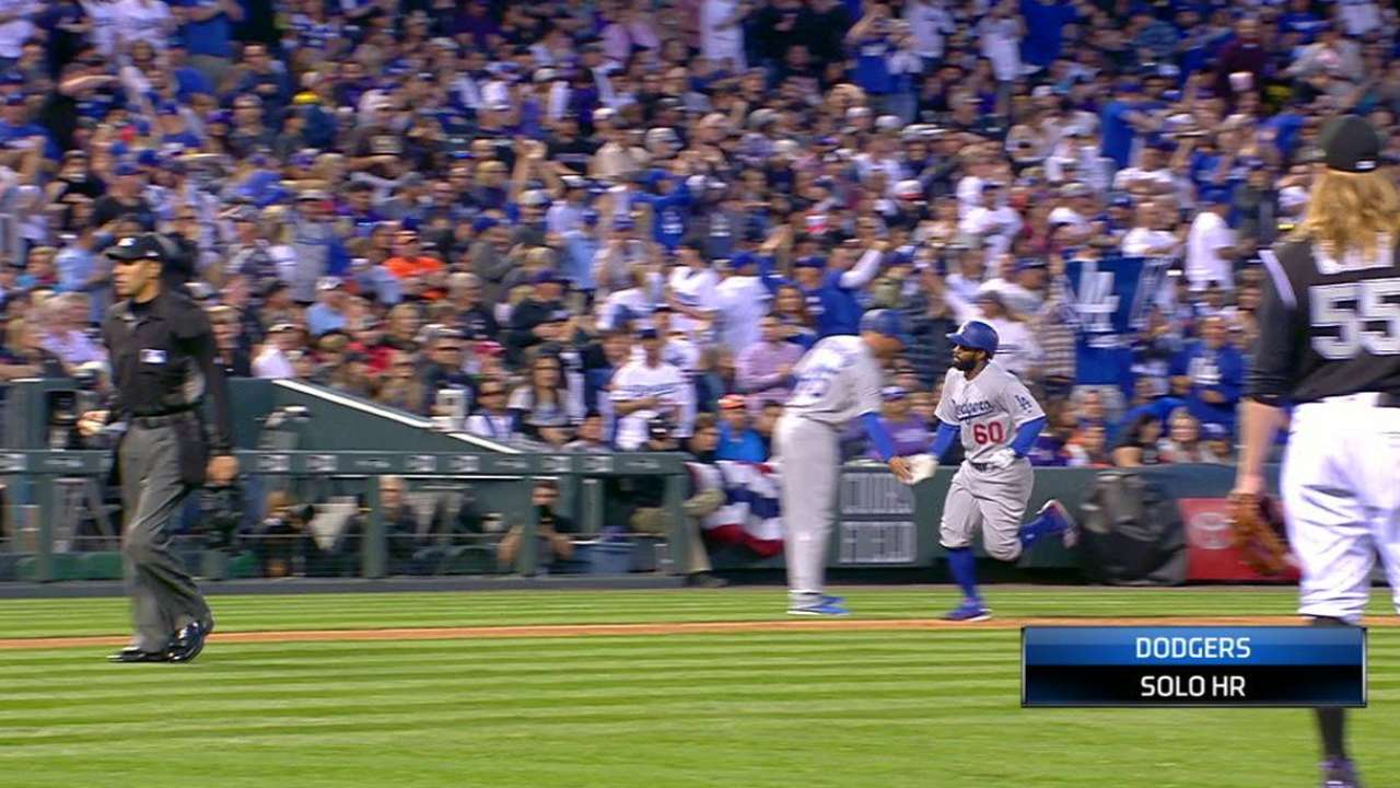 Toles' solo homer ties the game