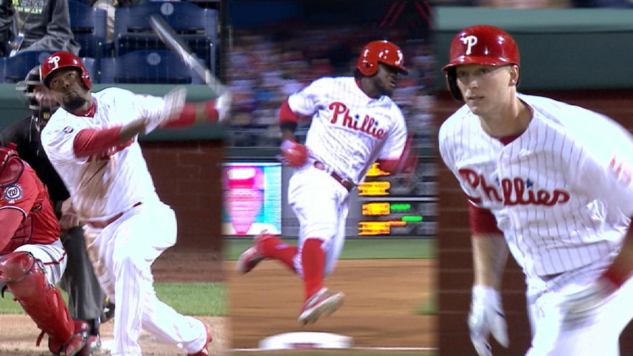 Phils use historic 12-run 1st to rout Nationals