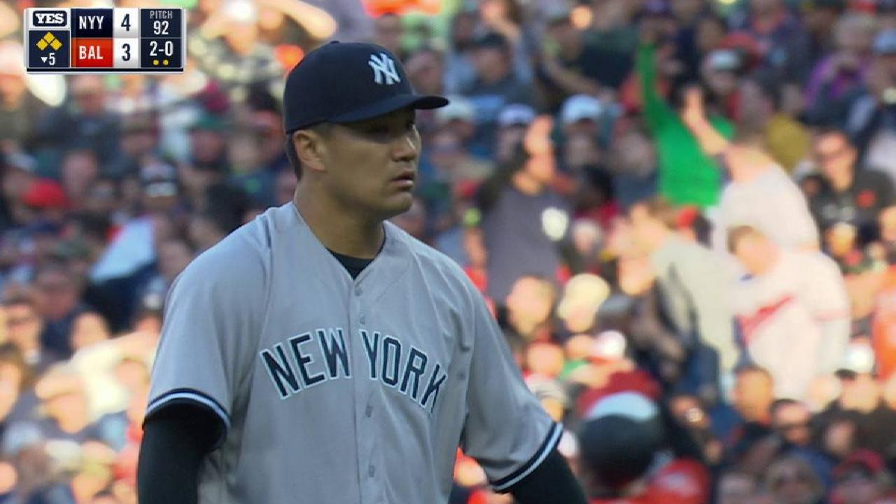 Tanaka looks better, but loses command