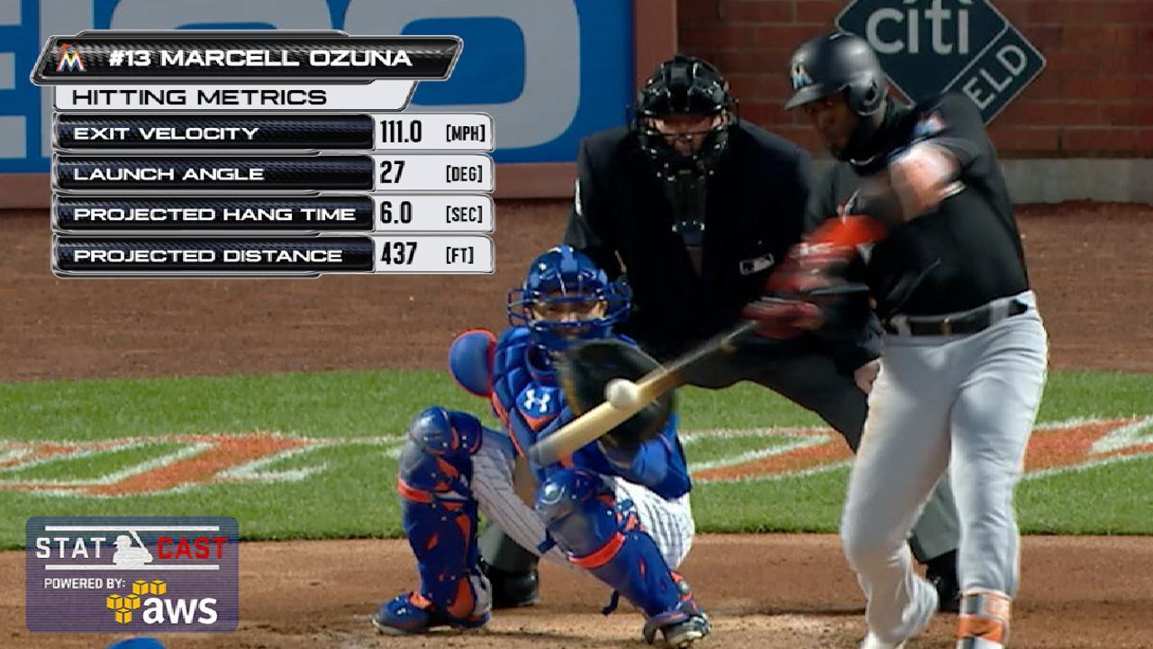 Marlins propinan paliza a los Mets detrás de Ozuna, Conley