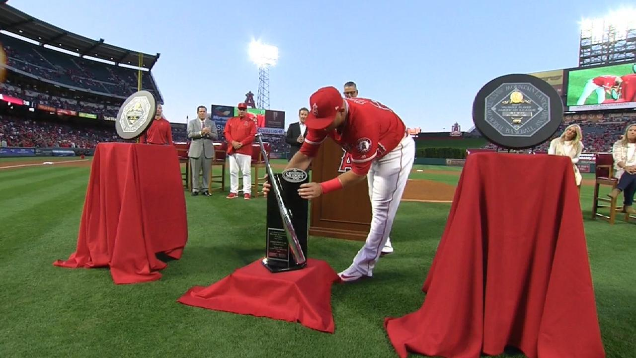 Trout receives MVP, Silver Slugger hardware