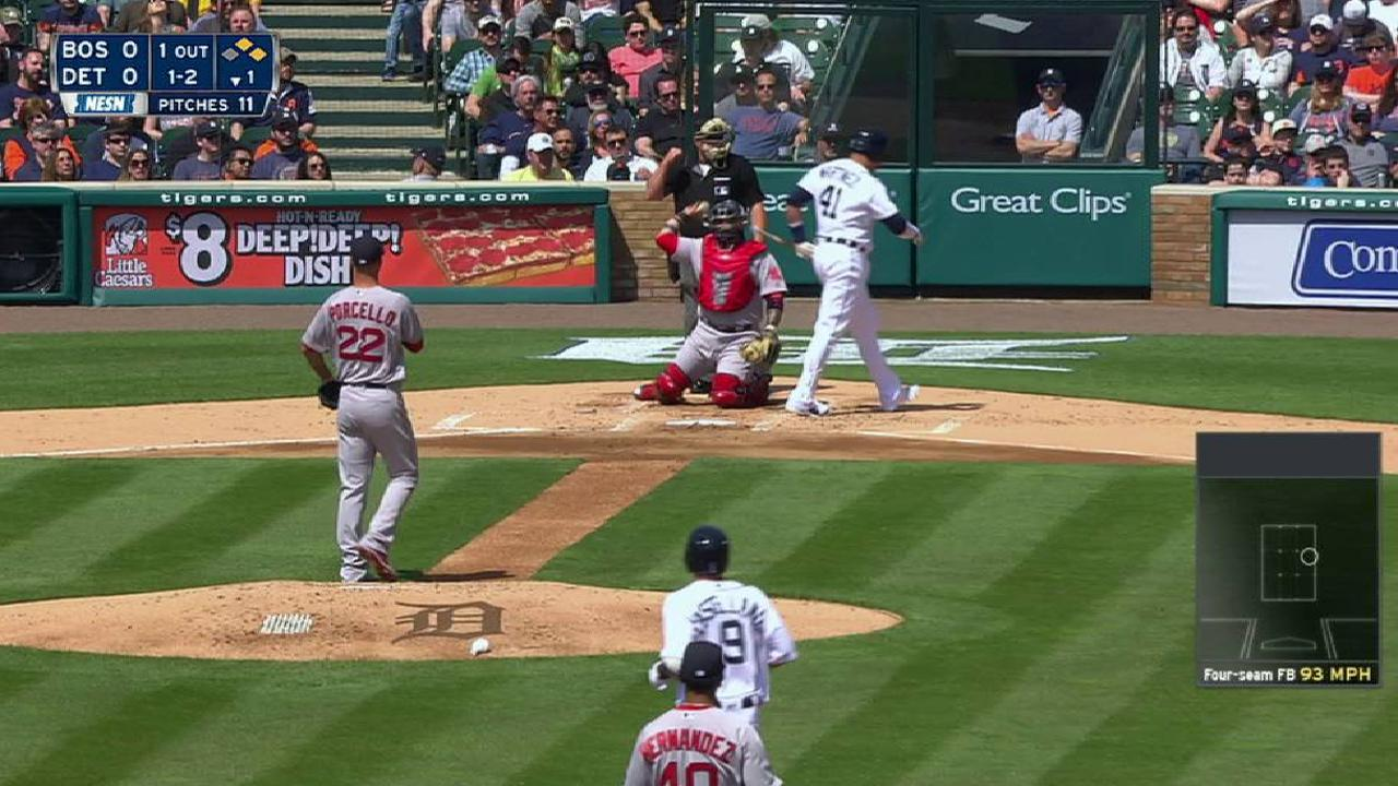 Porcello's 1,000th strikeout