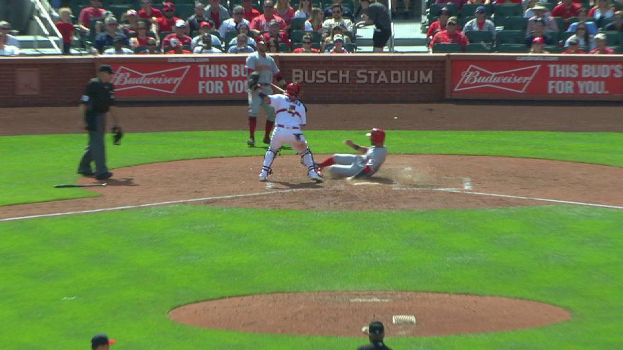 Schebler's RBI double