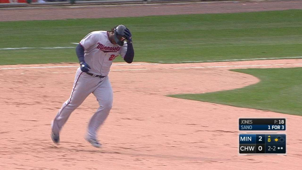 Sano's huge two-run homer