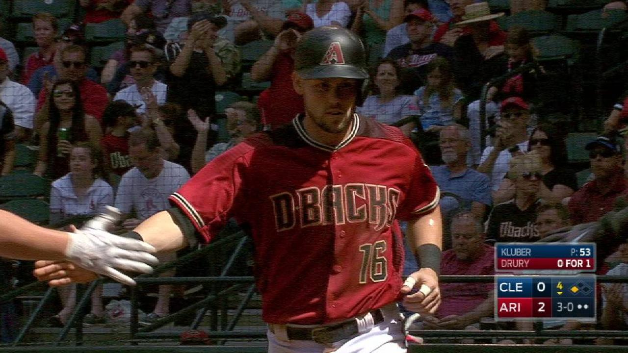 Owings steals, scores on error