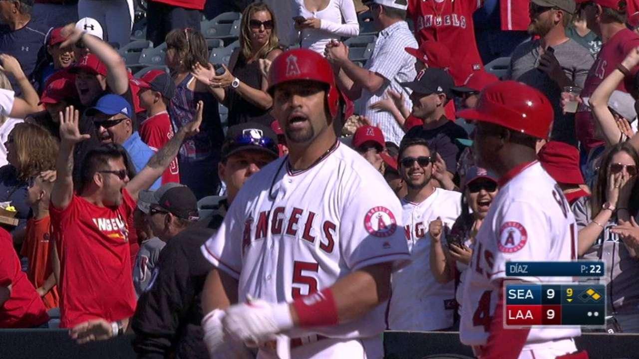 Angels vencen a Marineros con gran reacción en la 9na