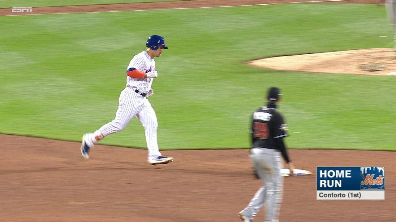 Mets evitan barrida en casa ante Marlins detrás de Thor, jonrones