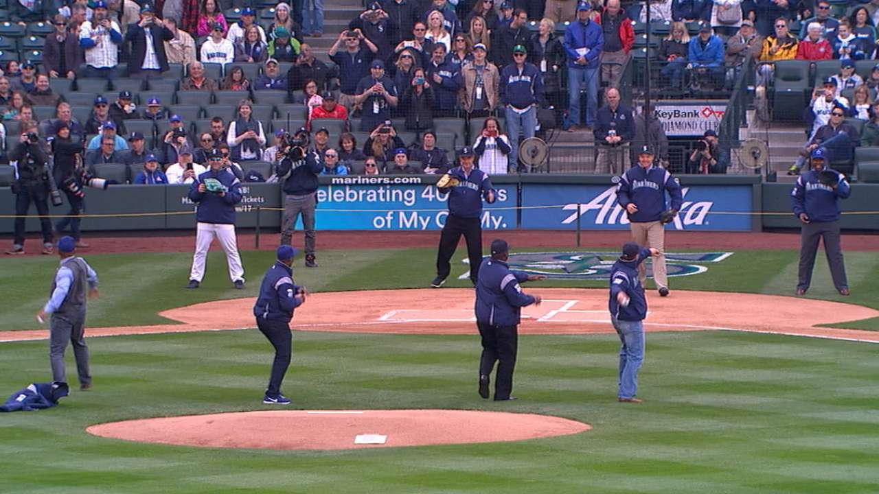 Star-studded first pitch opens Safeco season