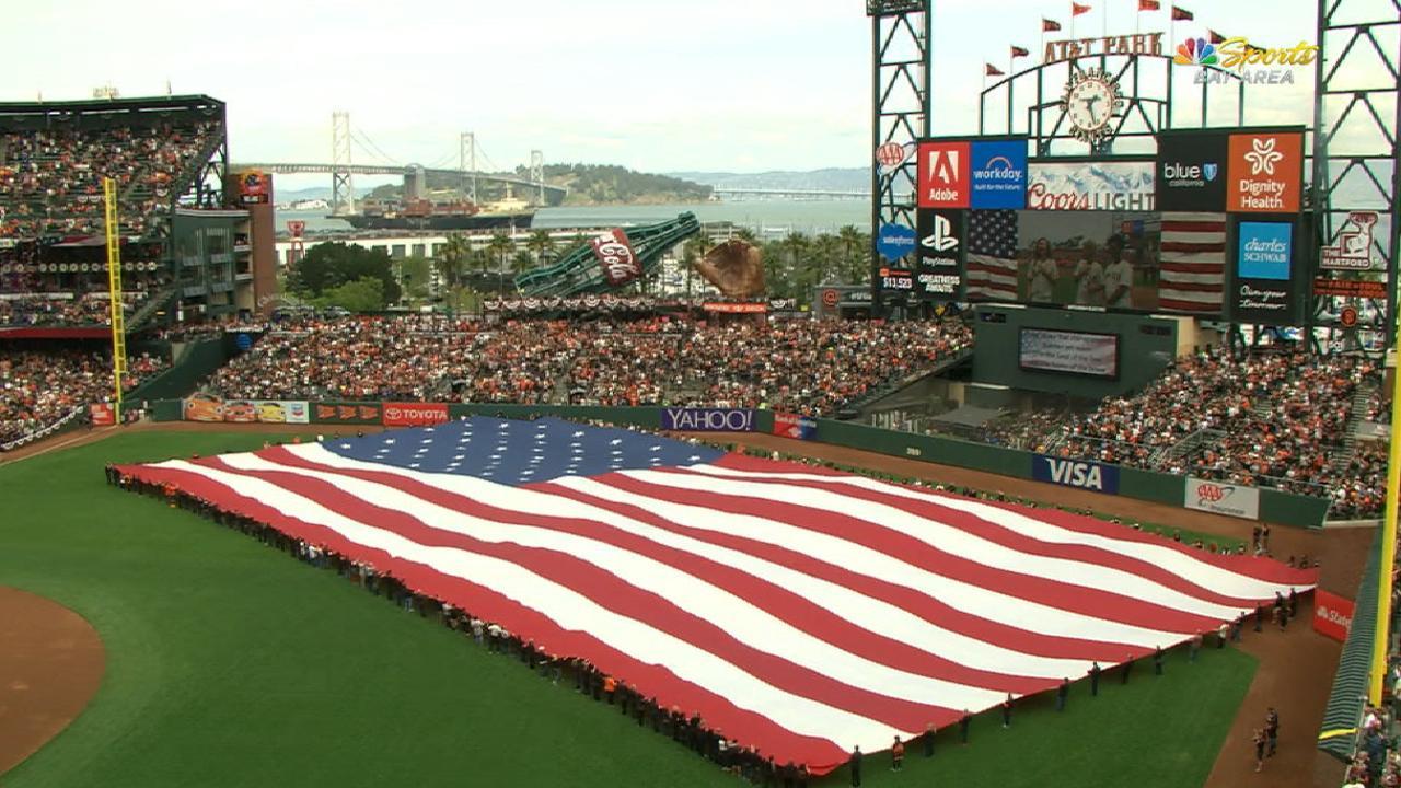 Giants honor SEAL, Feeney at home opener