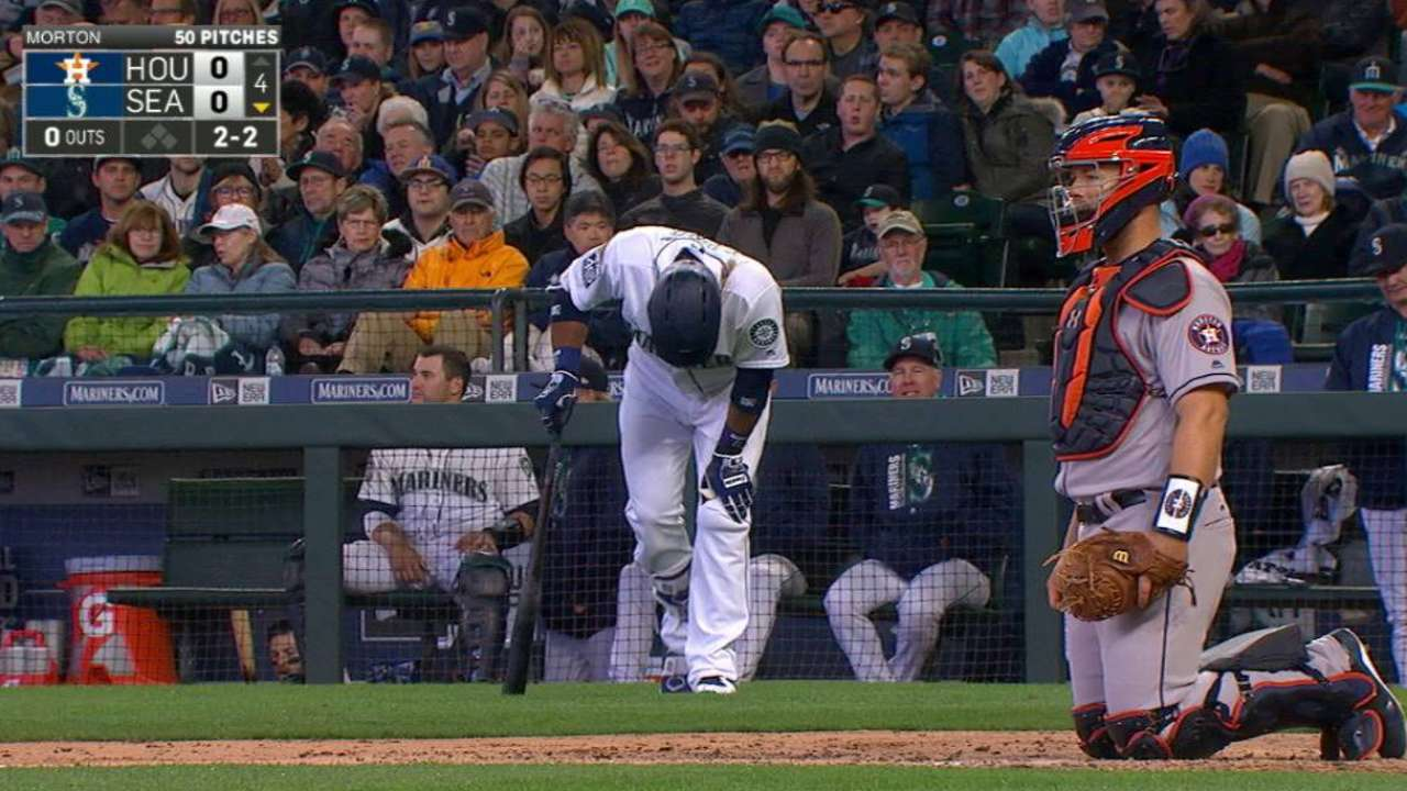 Cano fouls ball off ankle