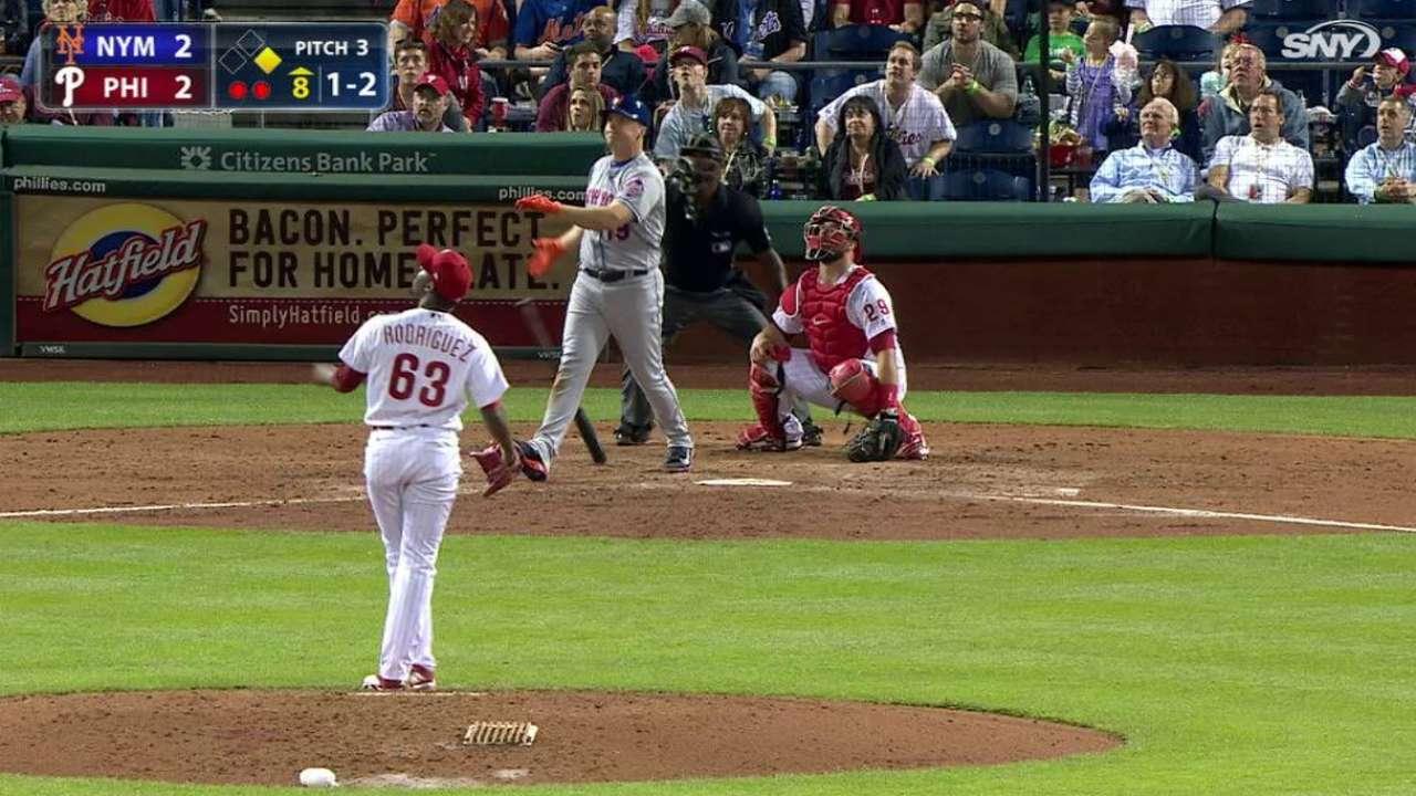 Bambinazo de Bruce en la 8va decide victoria de Mets sobre Filis