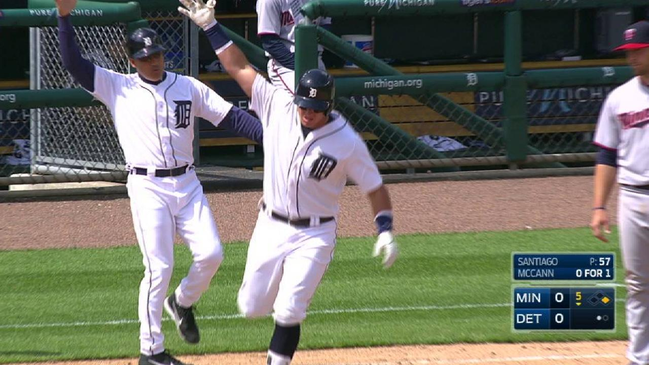 McCann providing power for Tigers