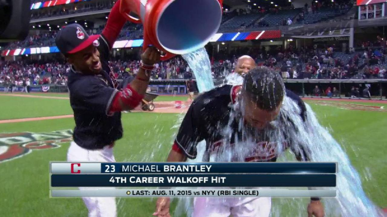 Brantley discusses walk-off