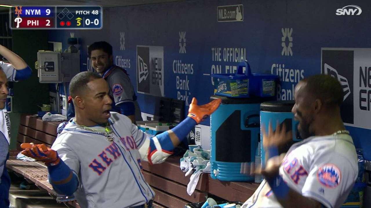 Yoenis Céspedes pega tres jonrones en juego de Mets contra Filis