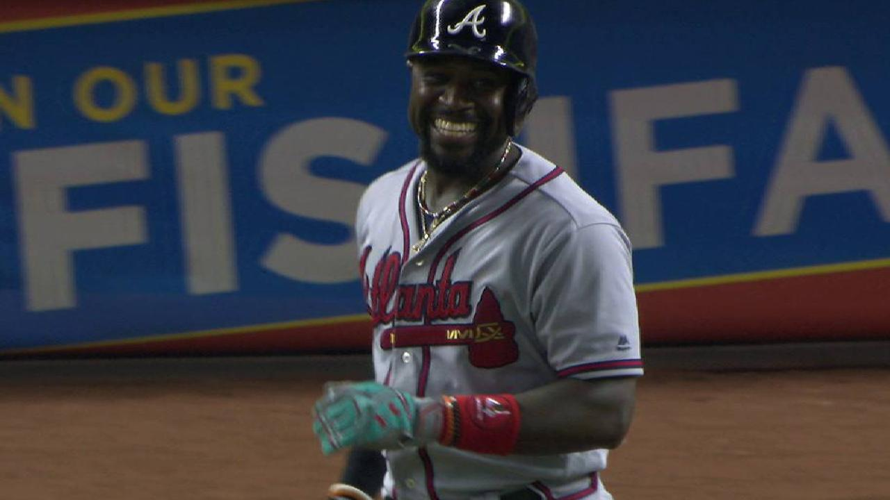 Phillips smiles after HBP