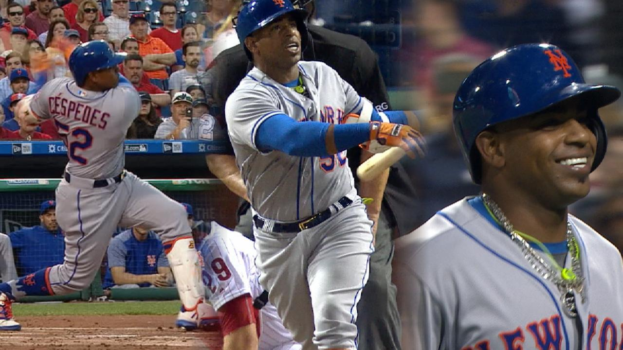 Cespedes hammers three home runs
