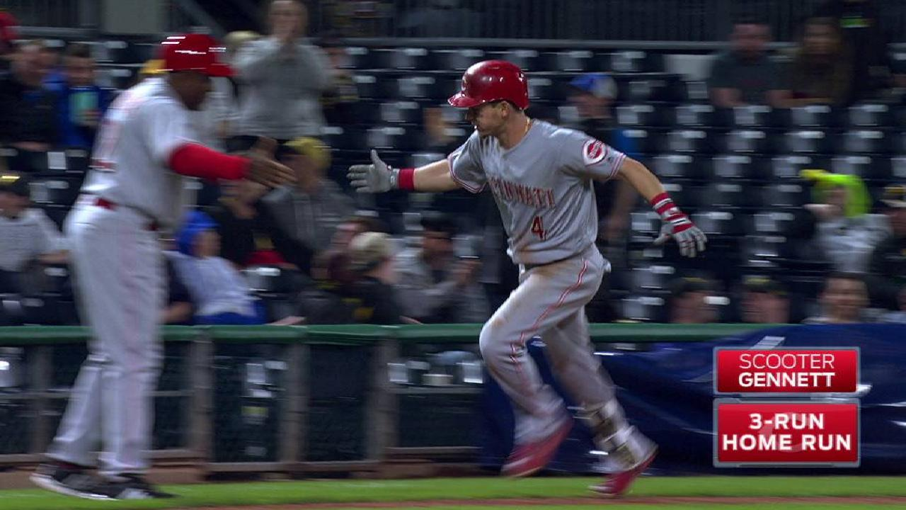 Gennett excited to see former teammates