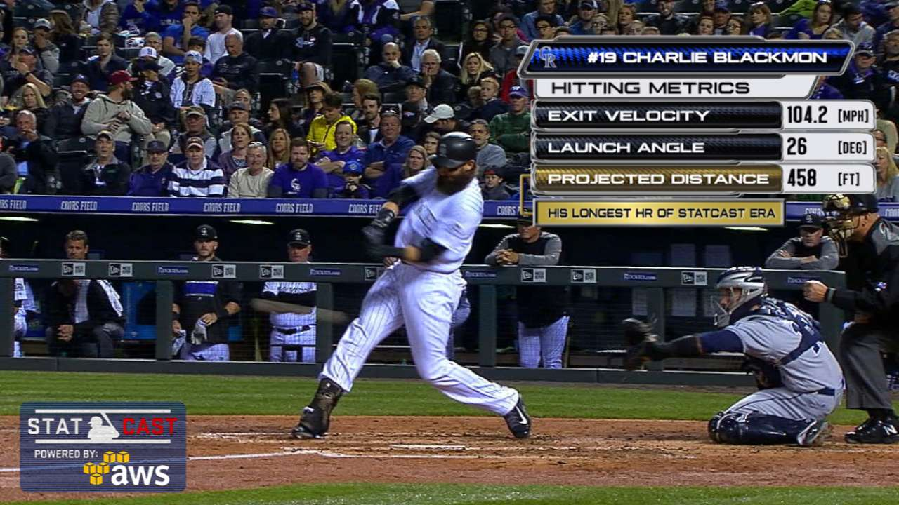 Statcast: Blackmon's 458-ft. HR