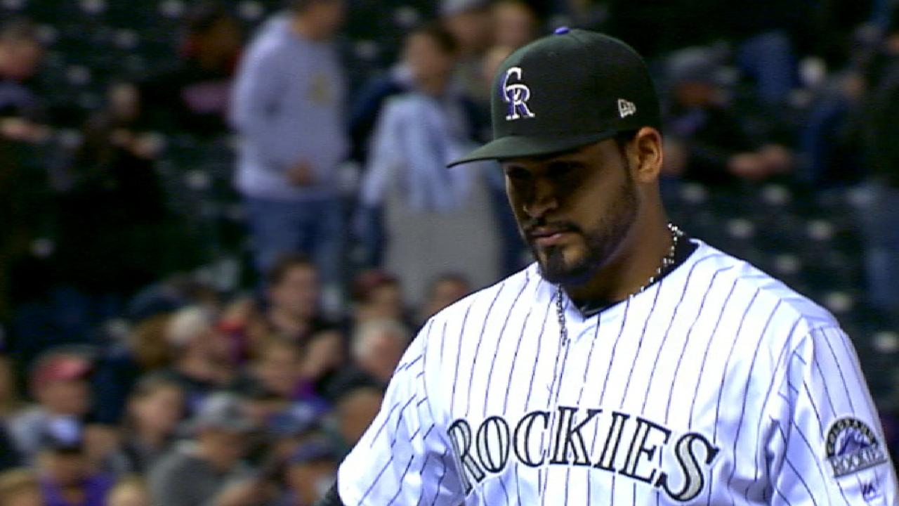 Senzatela earns first MLB win