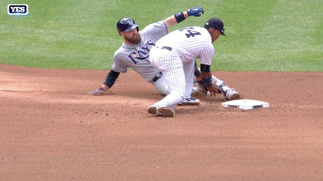 Hicks nabs Norris at second base
