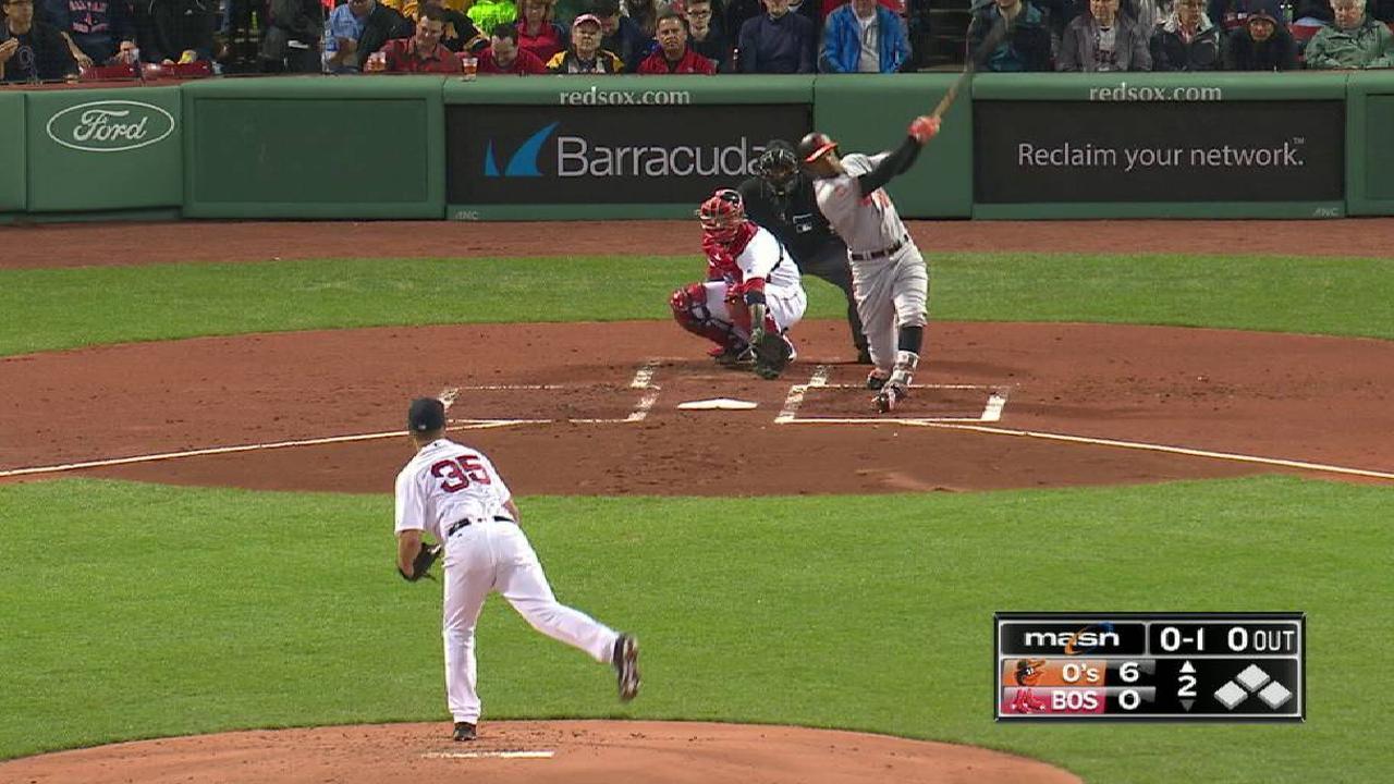 Jones crushes a solo home run