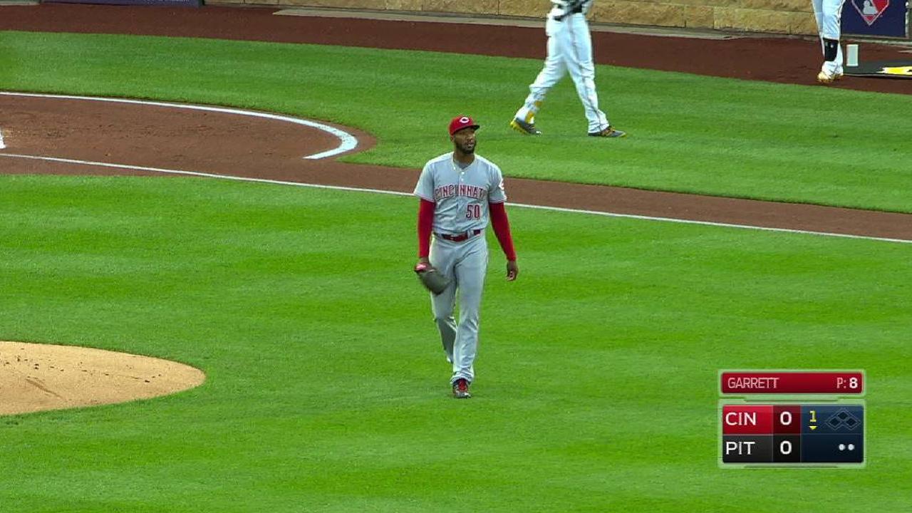 Garrett's start leads Reds to sweep of Pirates