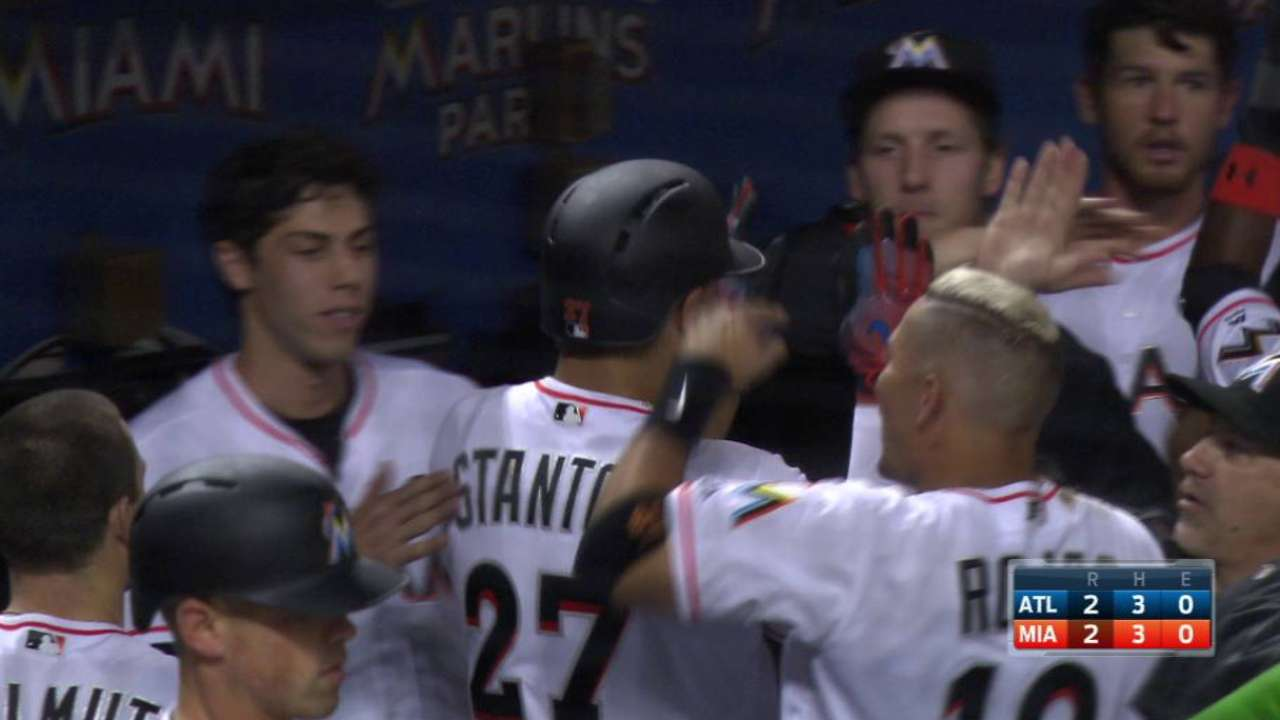 Stanton's first home run of 2017