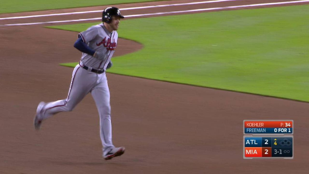 Freeman's solo home run