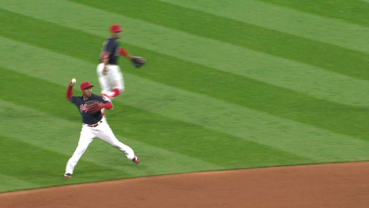 Ramirez's off-balance play