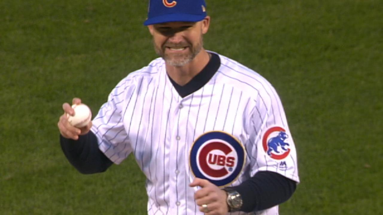 Ross throws first pitch to Lester
