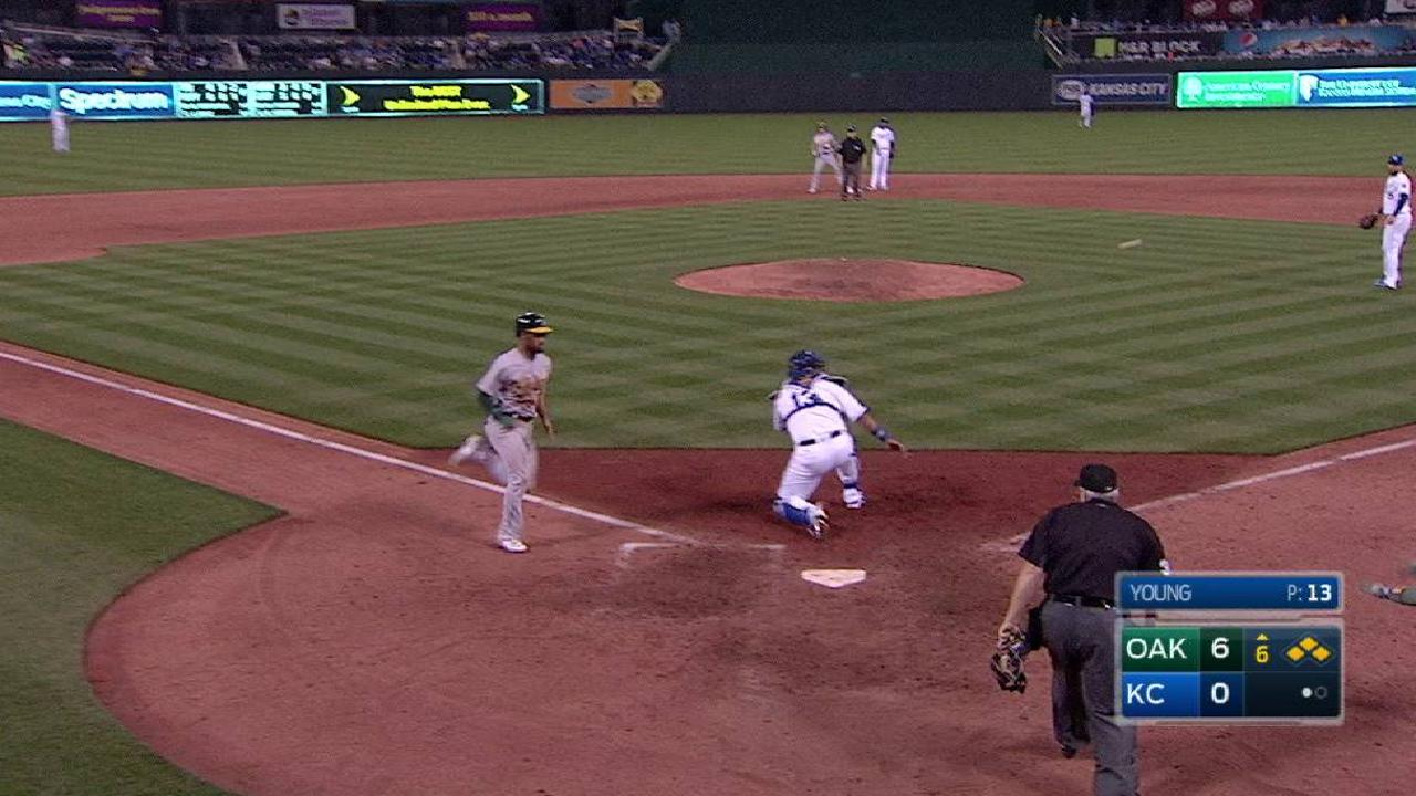 A's erupt for 8 runs to back Triggs' gem