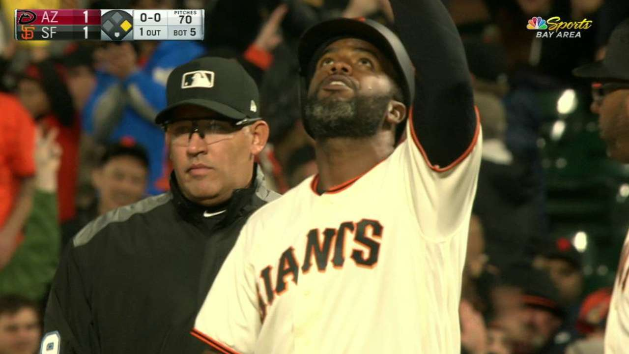 Span's RBI single in the 5th