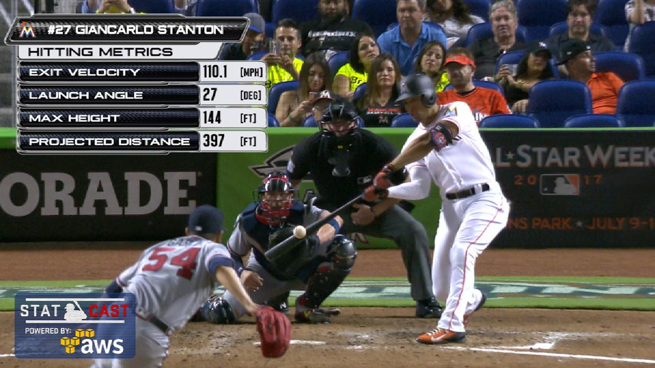 Statcast of the Day: Stanton's first 2 homers