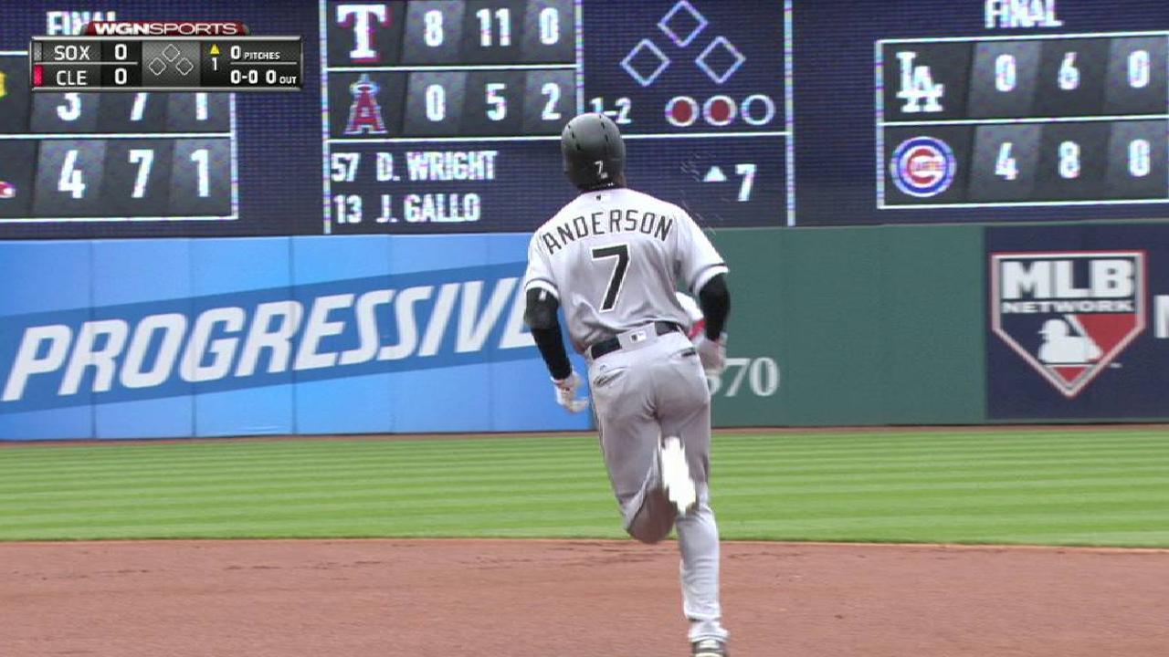Anderson's leadoff home run