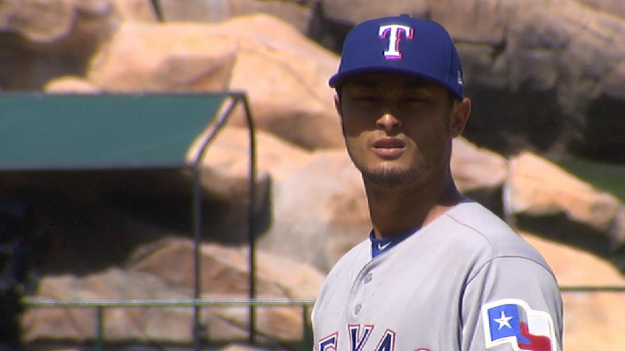 Darvish uses slider to perfection in win