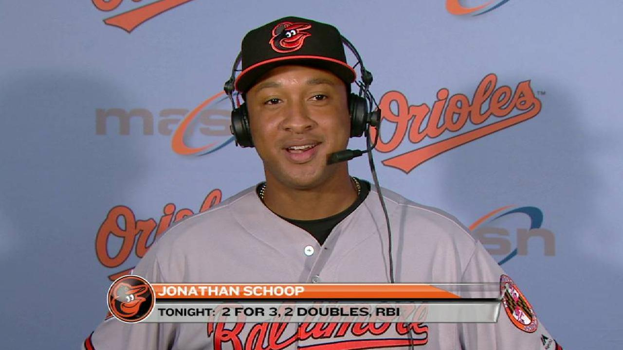 Schoop on win over Blue Jays