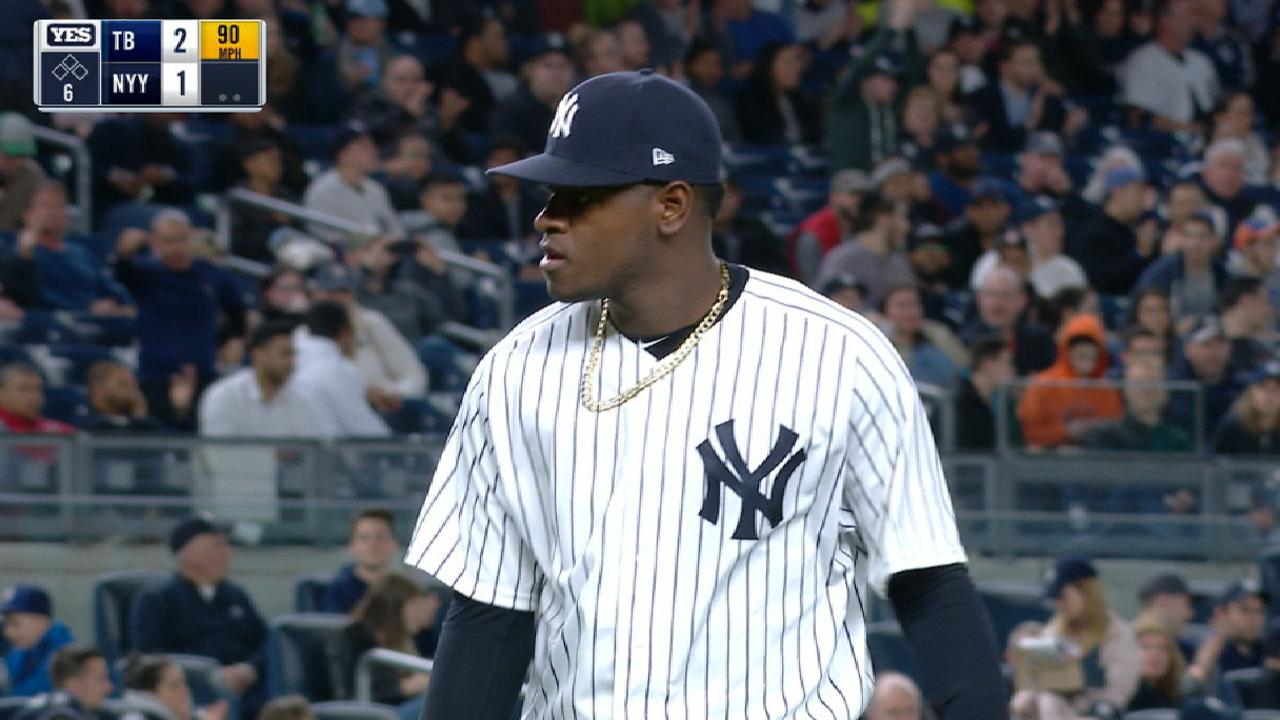 Severino strikes out 11 vs. Rays