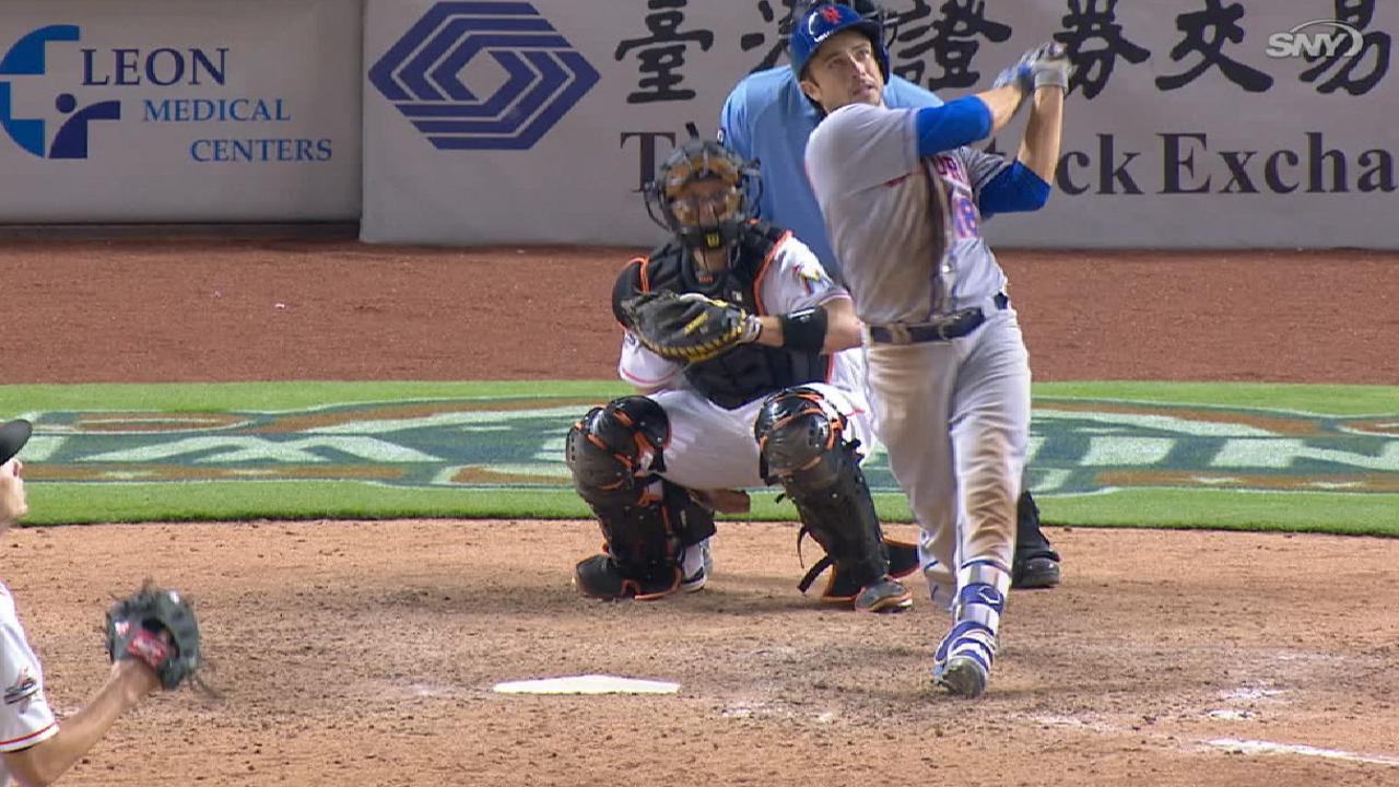 Tablazo de d'Arnaud en la 16ta decide victoria de Mets sobre Marlins