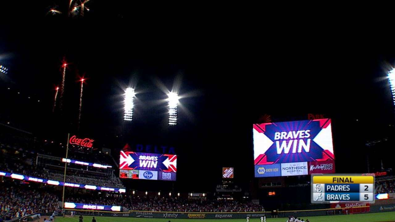 Braves SunTrust the process, win at new park