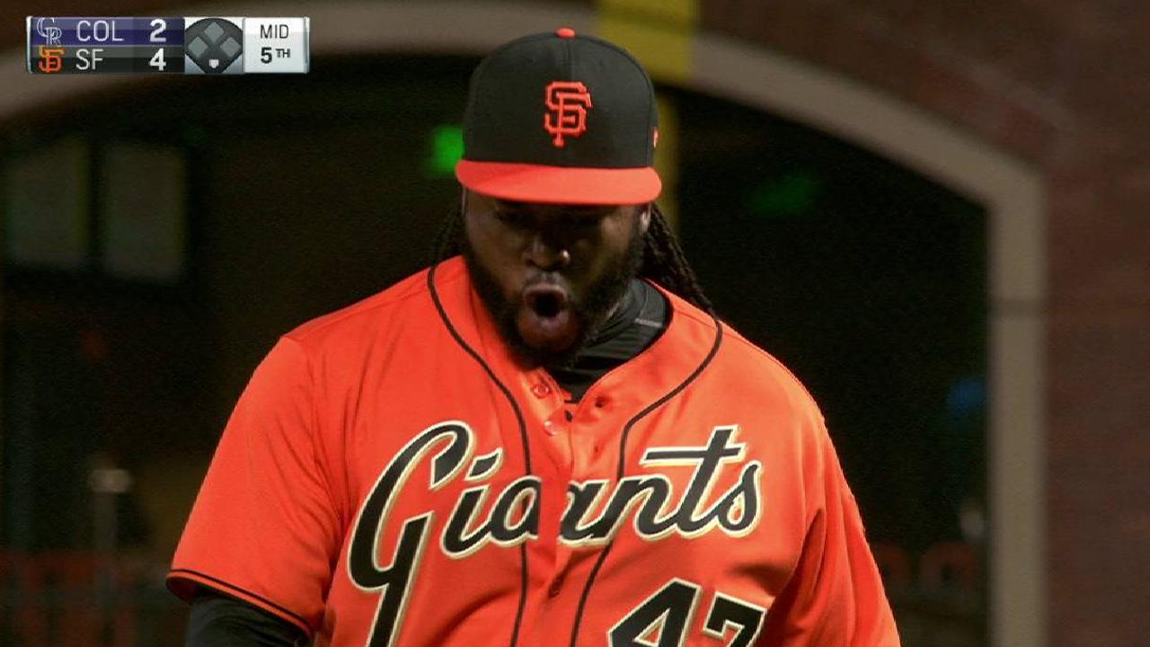 Giants' clutch DP in the 5th