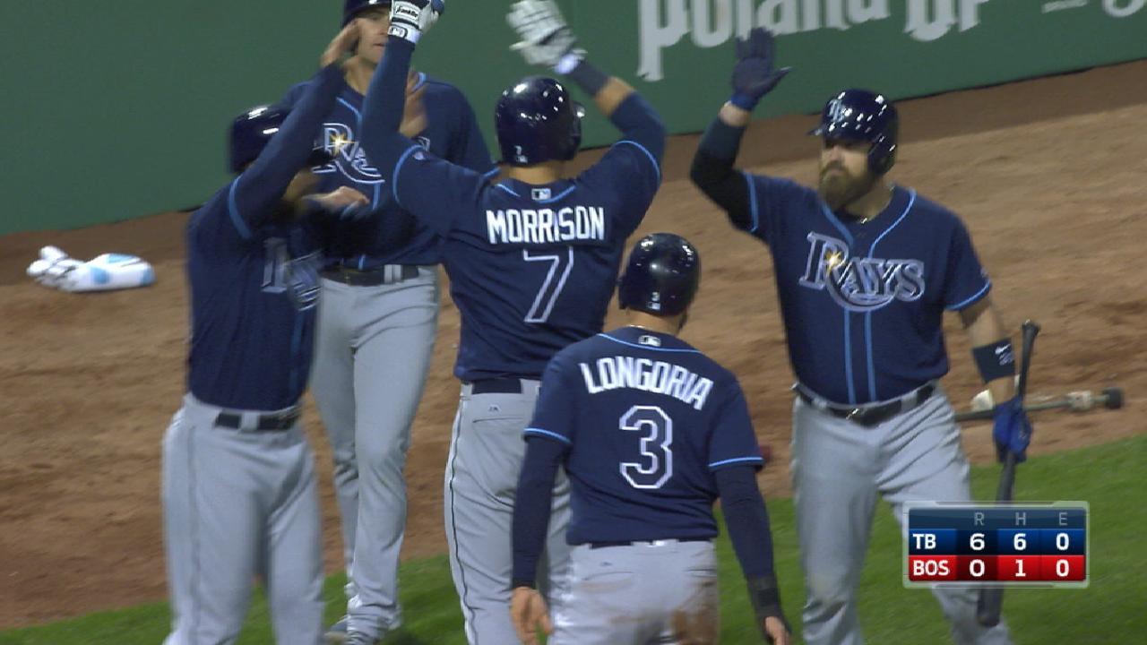 LoMo, Rays swing big sticks in win vs. Sox
