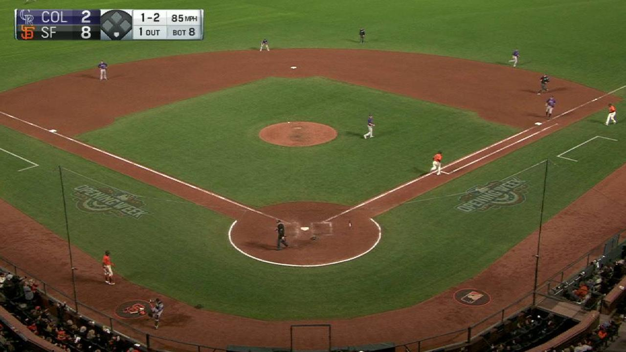 Carle's first career strikeout