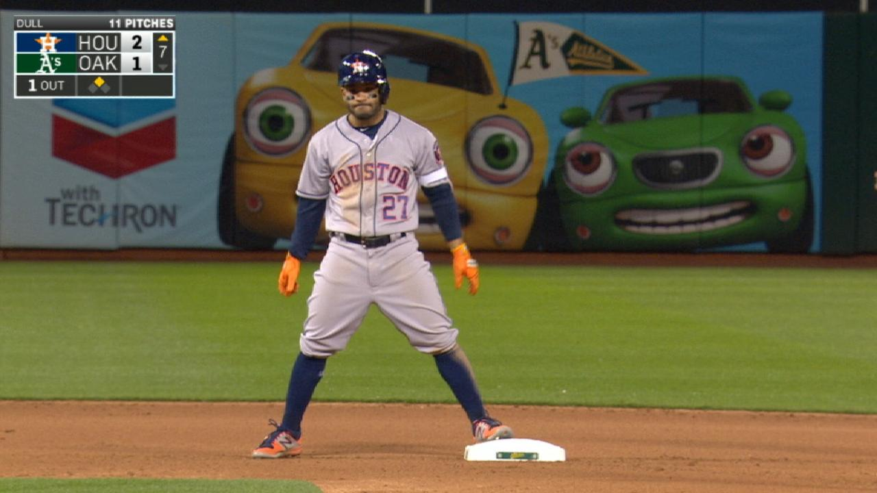 Altuve reaches base five times