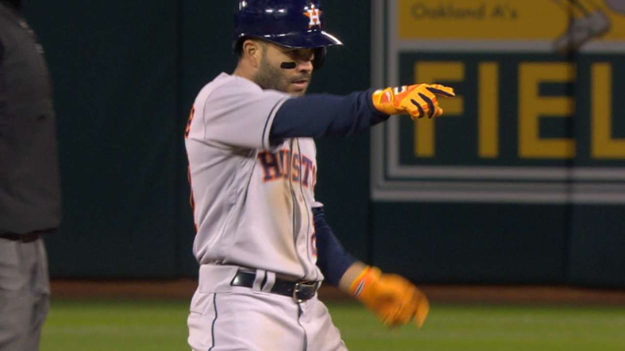 Altuve finding groove at plate