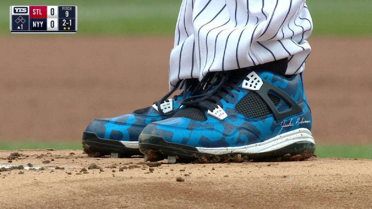 CC's Jackie Robinson cleats