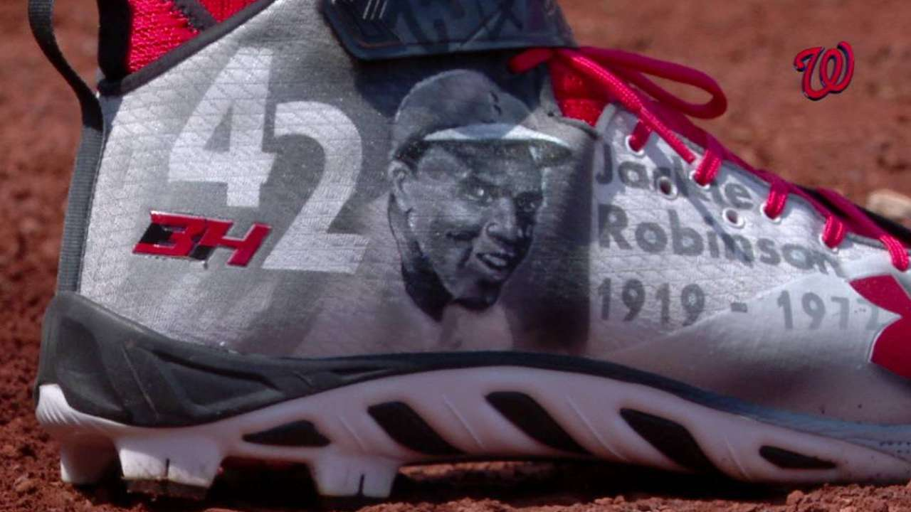 Harper's Jackie Robinson cleats