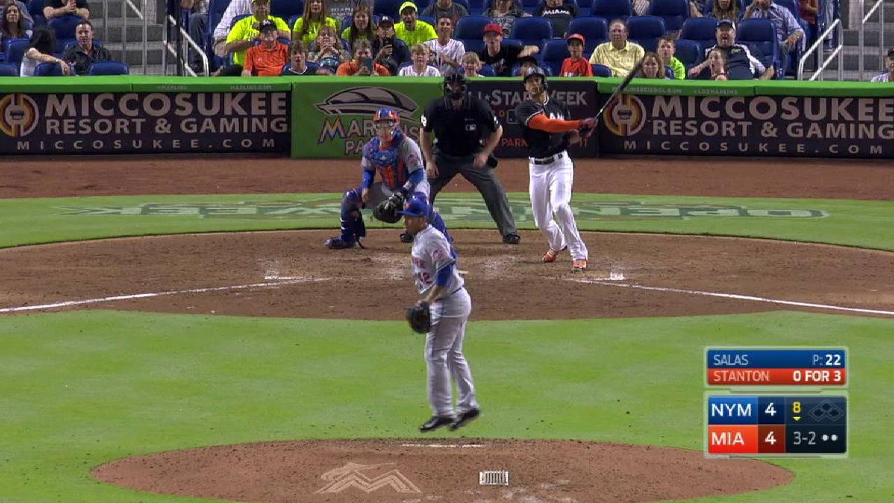 Marlins go back-to-back twice to beat Mets